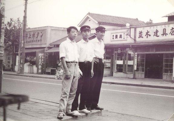 馬場商会前の町並み 1959頃