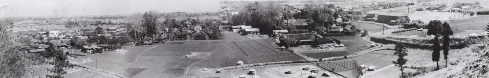 大昌寺山から宝泉寺・八坂神社・大昌寺・一小方面を望む 1956