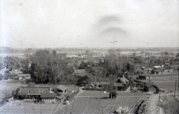 大昌寺山から大昌寺方面を望む 1951