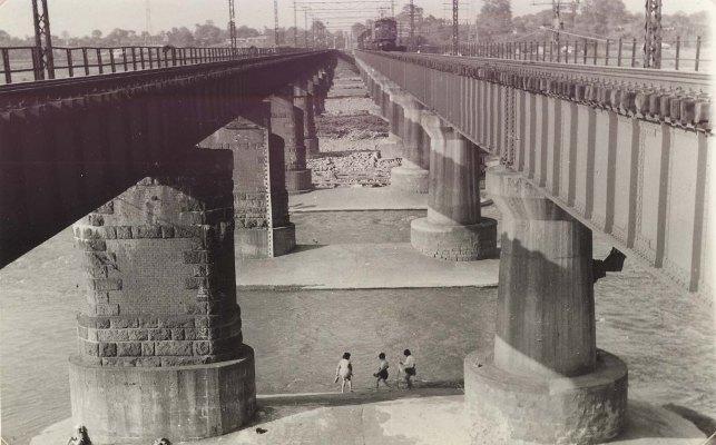 中央線多摩川鉄橋 1959頃