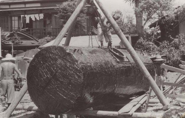 馬場ガソリンスタンド 1963 - 埋設用ガソリンタンク