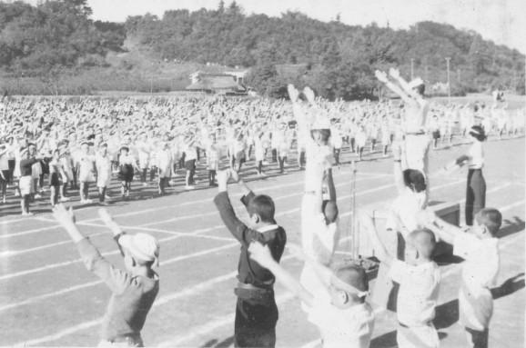 日野小学校秋季大運動会 1951(4)準備体操