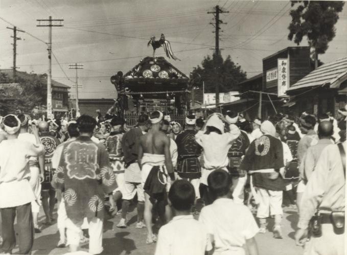 八坂神社の祭り 1951(1)森町付近
