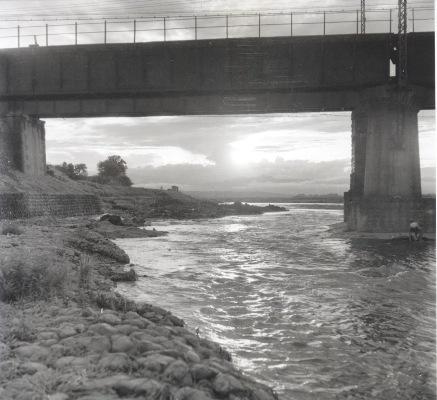 中央線多摩川鉄橋 1952