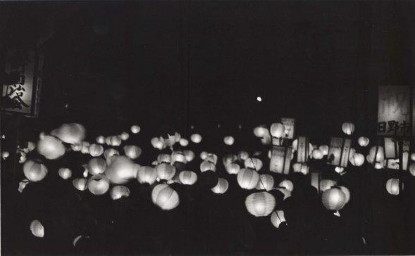 日野市市制祝賀行事 1963 - 提灯行列