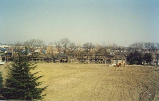 スポーツ公園整地 - 蚕糸試験場日野桑園跡地 1980