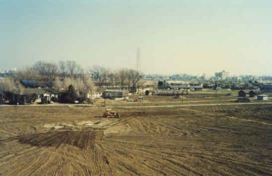 スポーツ公園整地 ‐ 蚕糸試験場日野桑園跡地 1980(3)