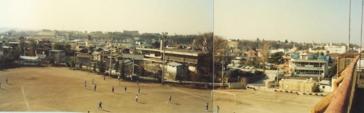 一中屋上より南東から西南 1980