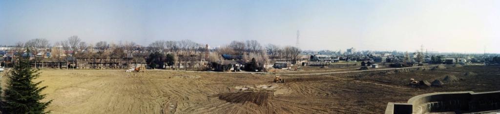 スポーツ公園整地‐桑園跡地 1980