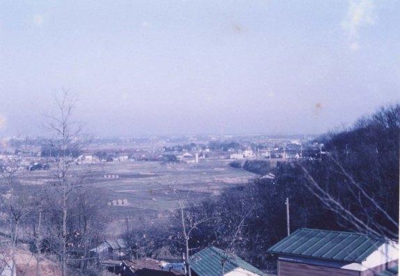 三小付近から東方面を望む 1962頃