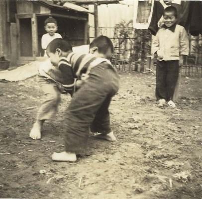 子どもの遊び - 相撲 1948頃