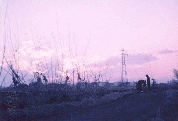 中央線多摩平陸橋の東から西方を望む 1962頃