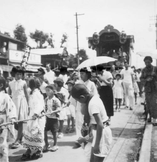 仲町の子ども山車 1957