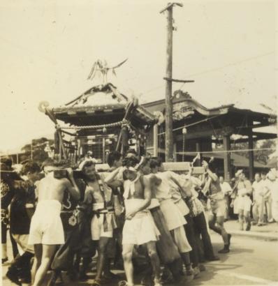 八坂神社の祭り 1956(4)宮神輿