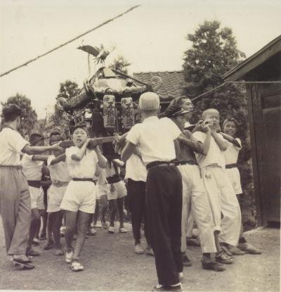 八坂神社の祭り 1957(5)仲町子ども神輿