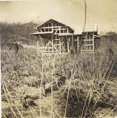 新築中の島崎宅 1959