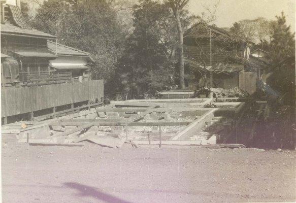 安西清氏生家建替え 1953頃(2)基礎工事