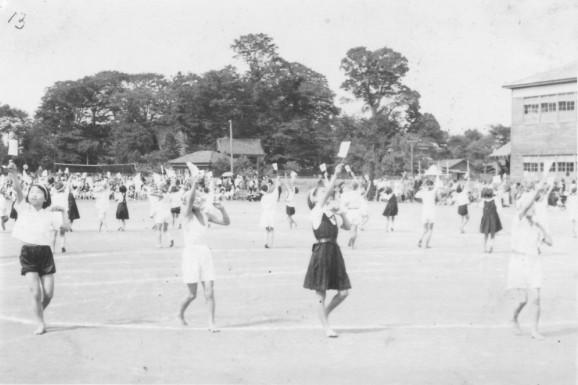 日野小学校秋季大運動会 1951(12)日の丸体操