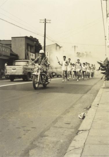 東京オリンピック 聖火リレーの予行演習 1964