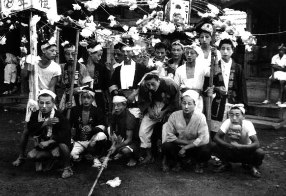 八坂神社の祭り 1951(3) 加組青年