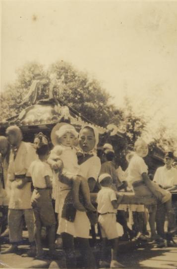 八坂神社の祭り 1944(1)宮神輿