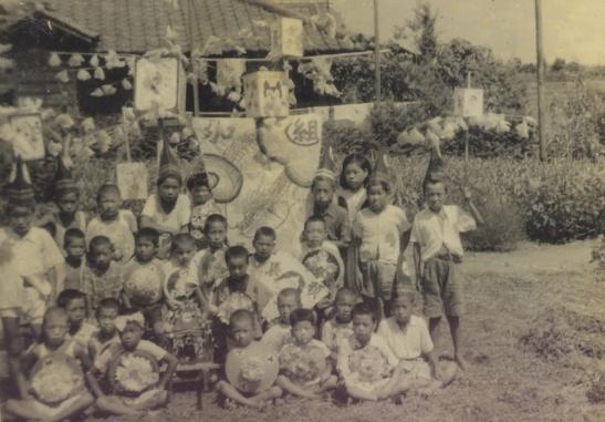 八坂神社の祭り 1944(2)北原の子ども神輿
