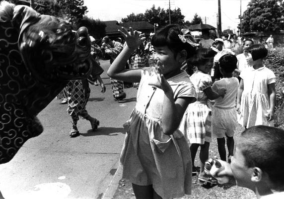 八坂神社の祭り 1950年代(3) 獅子舞