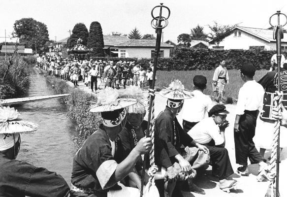 八坂神社の祭り 1955頃 ‐ 宮神輿渡御 ‐ 四ツ谷