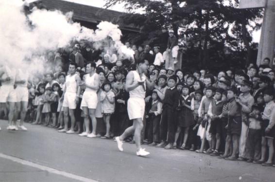 アジア大会 聖火リレー 1958 - 八坂神社前
