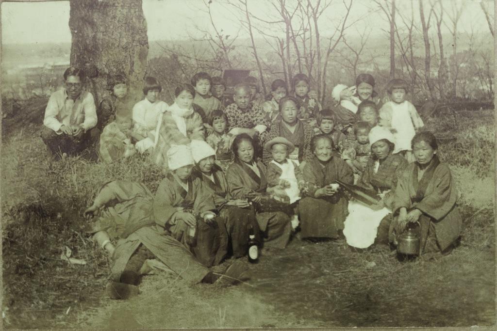 森町町内の人々 1937