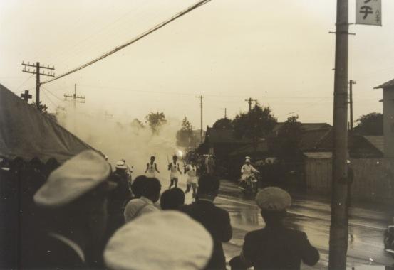 東京オリンピック 聖火リレー 1964(5)日野警察署前