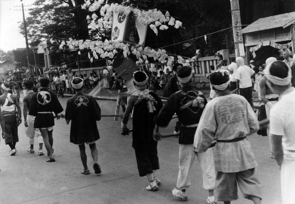 八坂神社の祭り 1951(24) ささら流し