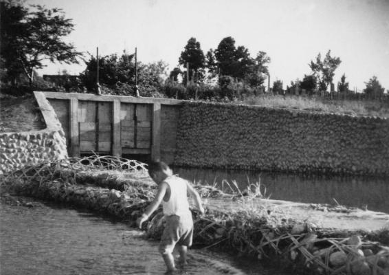 谷地川からの用水取水口