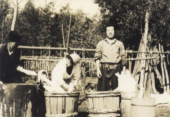 大根洗い - 谷家 昭和30年代中頃