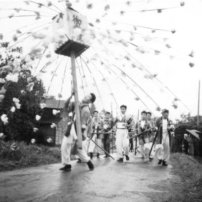 八坂神社の祭り 1957(7) 東光寺青年 ‐ ささら流し