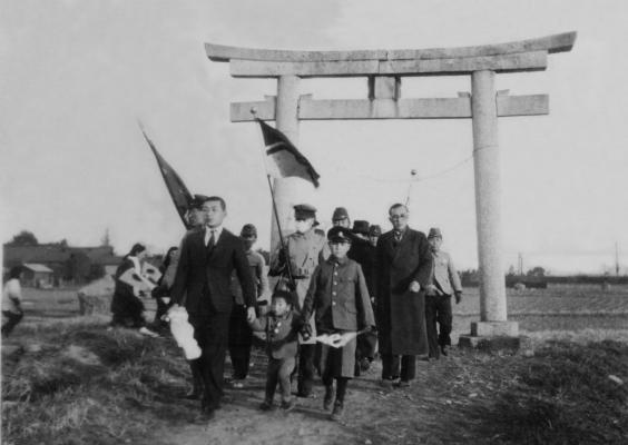 出征祈願 1942(2)日野宮神社鳥居 - 四ッ谷 -