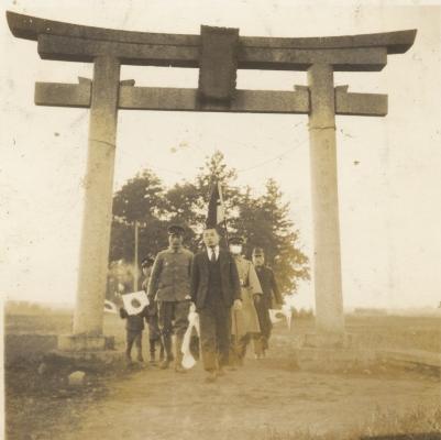 出征祈願 1942(4)日野宮神社鳥居付近