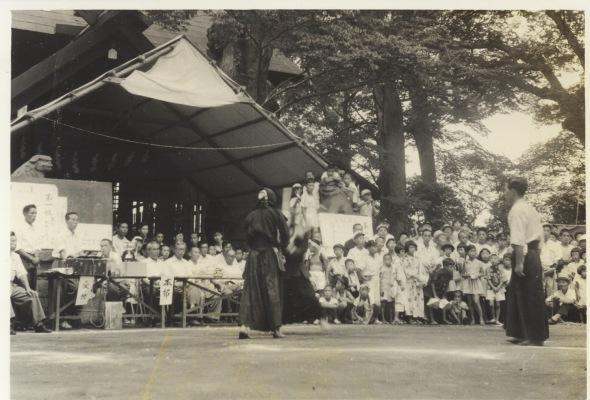 八坂神社の祭り 1956(10)剣道大会