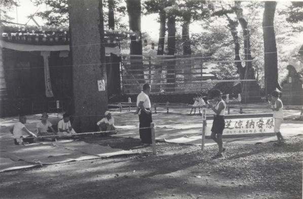 森町主催芝居舞台かけ 1956