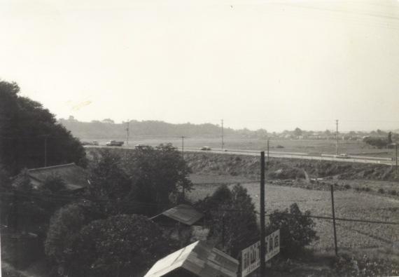 日野駅ホームから日野坂方面(1) 昭和30年代