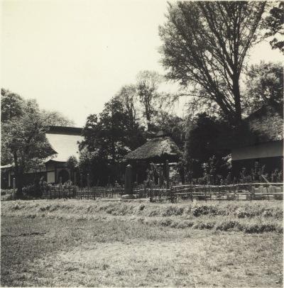 宝泉寺東側 - 本堂、鐘楼、閻魔堂 昭和30年代初頭
