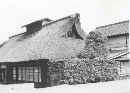河野家東側 - 母屋、土蔵 昭和30年初頭