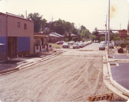現いなげや前通り(通称)建設 1975