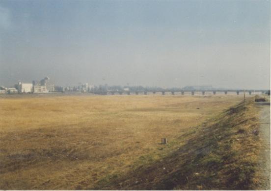 旧日野の渡し付近 1978