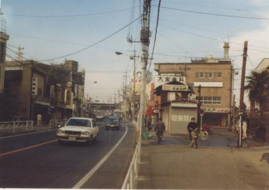 甲州街道 1978 - 森町消防小屋付近