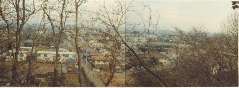 神明上から一小方面 1978