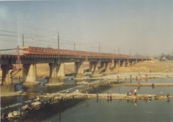 中央線多摩川鉄橋 1978