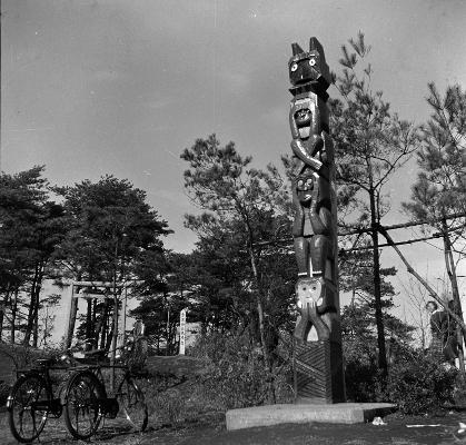 季重神社見晴台 1956頃