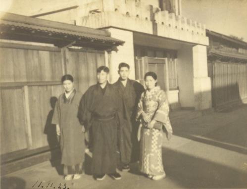 甲州街道北側 1936 ‐ 渡辺家前 ‐ 金子橋