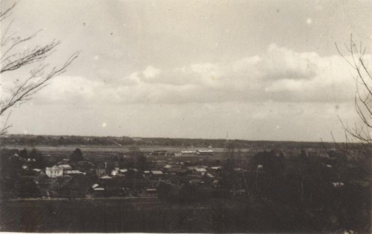大昌寺山から北側方面を望む 1937頃